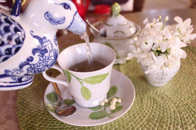 Chá em aumento em uma potência