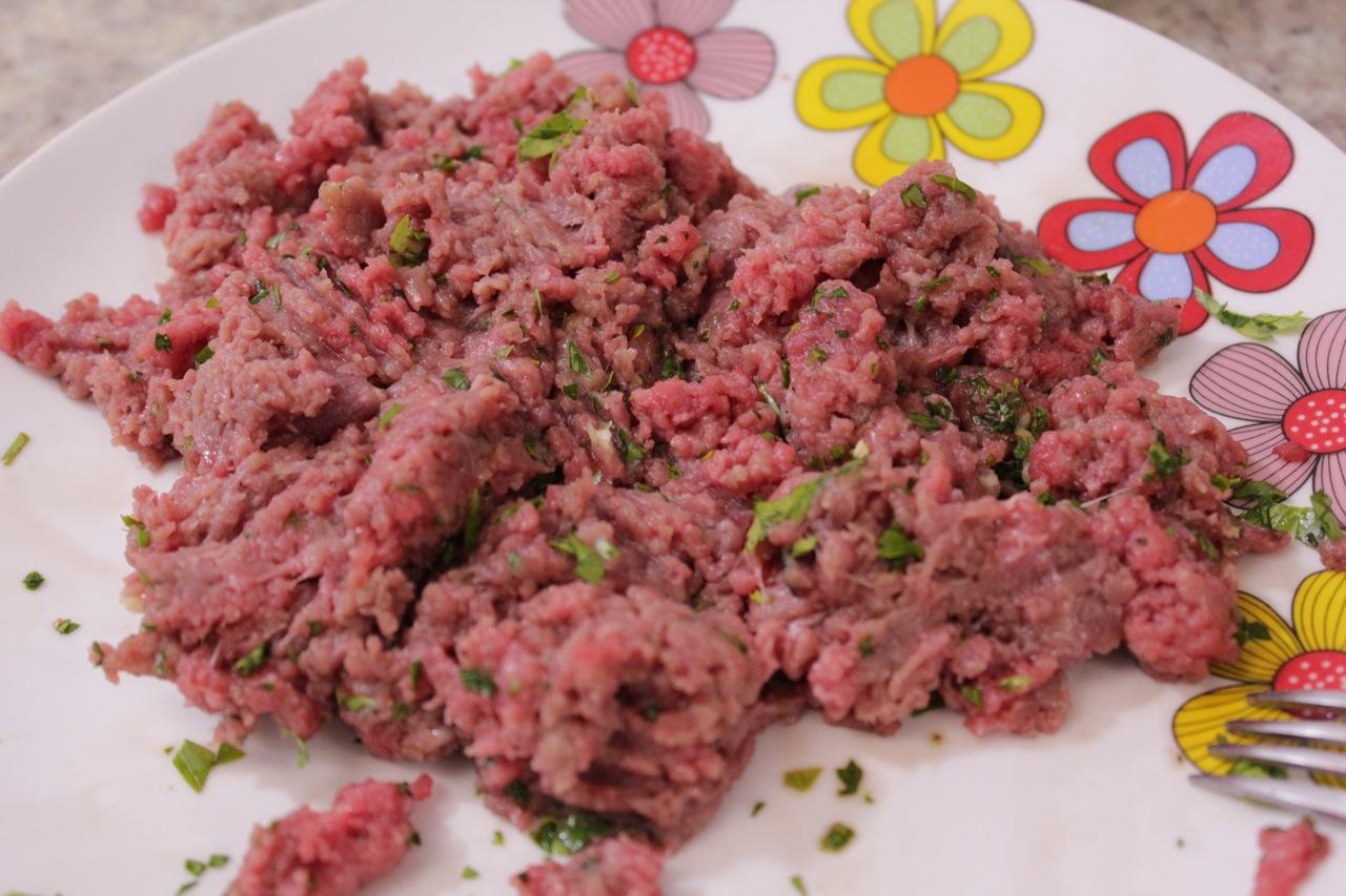 Carne moída temperada