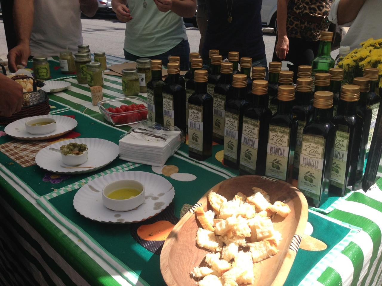 Barraca do azeite de oliva Borriello: uma farta degustação