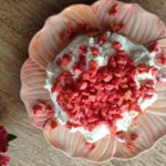 Torta de goiaba vermelha fresca