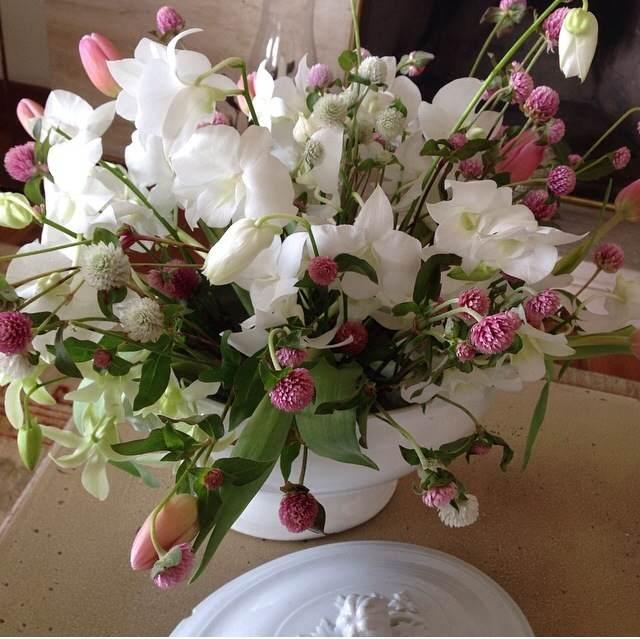 sopeira com flores